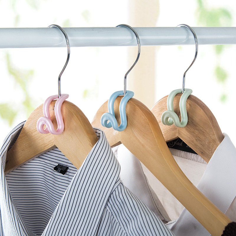 5Pcs DIY Creative Antislip Mini Clothes Hanger Home Easy Hook Wardrobe Clothes Organizer Save Space Hook Accessories