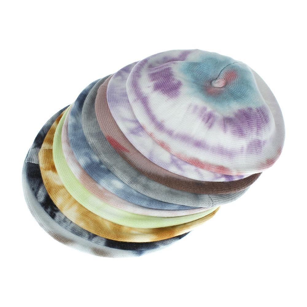 Ruoshui унисекс шапка с крашеным галстуком акриловый шерстяной