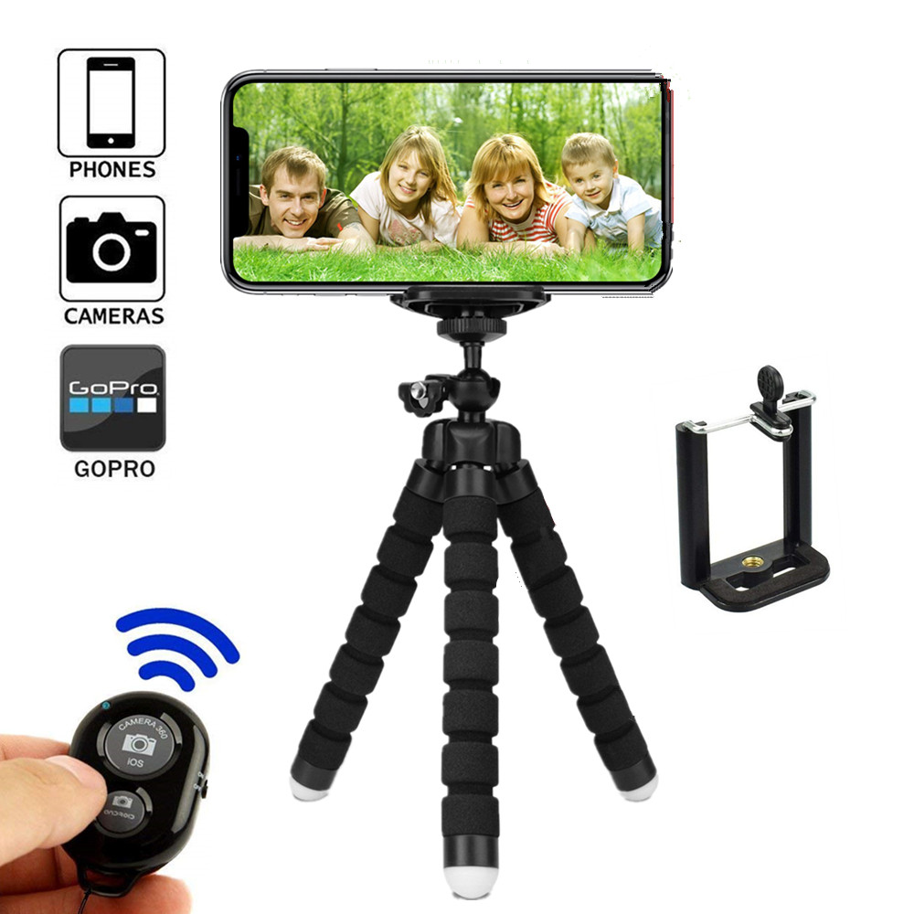 Tripod For Mobile Phone Holder Bluetooth Tripods For Phone Tripod Monopod Selfie Remote Stick For Smartphone Iphone Tripode