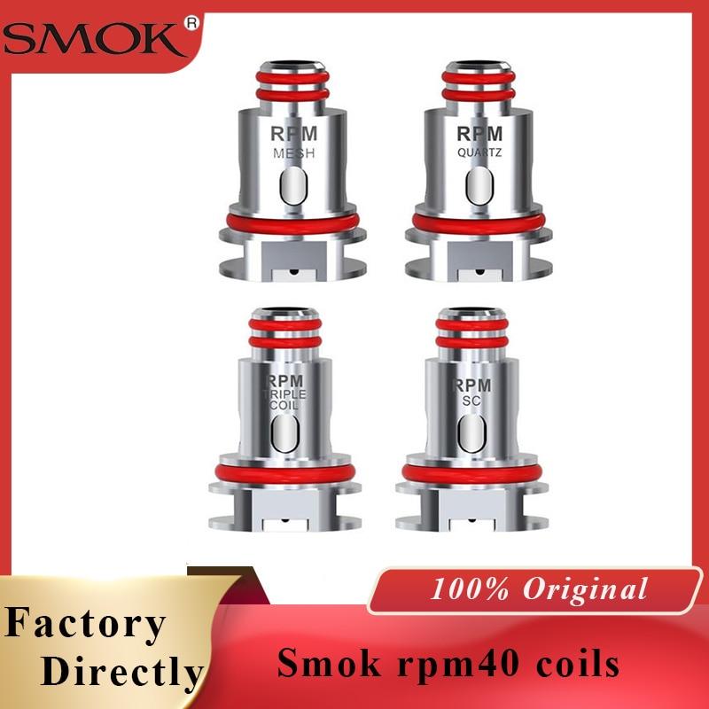 Vape Coils SMOK RPM40 Coil 0.4ohm RPM40 Mesh 0.6ohm Triple 1.2ohm Quartz 1.2ohm Coil For SMOK RPM40 Kit Vaporizer Cigarette Core