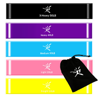 5 Colors Latex Resistance Bands Set Fitness Rubber Loop Bands Strength Training Workout Expander Gym Equipment Yoga Elastic Band