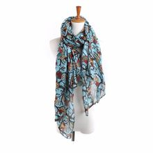 Women Ladies Owl Print Long Scarf Warm Wrap Shawl scarf women echarpe hiver femme foulard femme szaliki i chusty manteau #30(China)