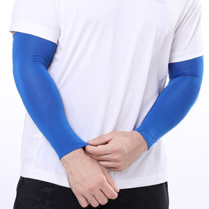 2Pcs Unisex Cooling Arm Sleeves Cover Cycling Running UV Sun Protection Outdoor Men Nylon Cool Arm Sleeves for Hide Tattoos