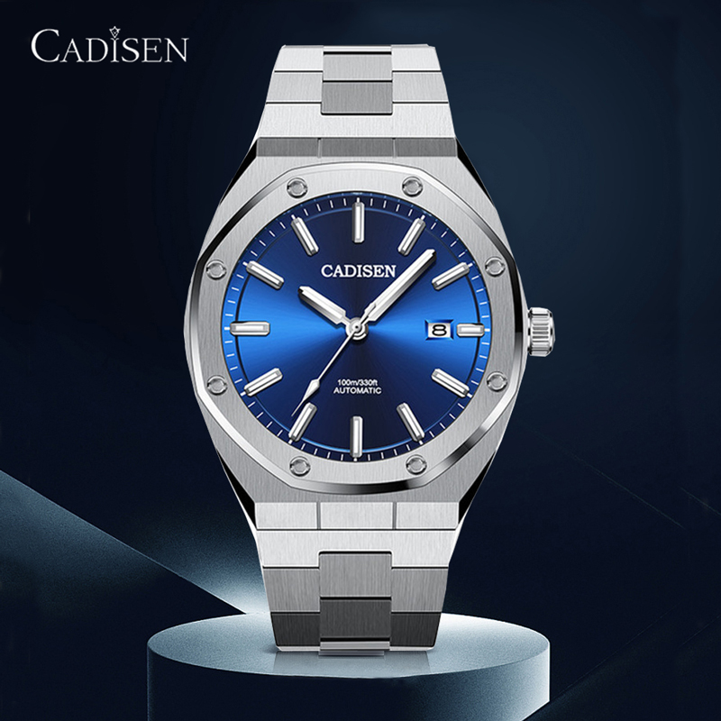 CADISEN Design Top Brand Luxury Men Watches Mechanical Automatic Watch Men <font><b>100M</b></font> Waterproof Business Fashion NH35 Wristwatch Mens image