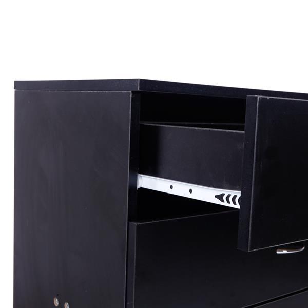 Four Drawer Black Dresser  3