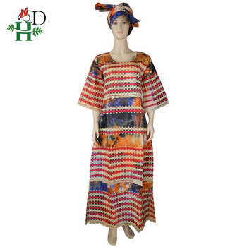 H&D african print dashiki dresses embroidery long dress african clothes traditional maxi dresses south africa lady dress headtie
