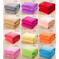 Plush Wool Blanket Small Super Warm Solid Micro-Throw Carpet Sofa Bedding Office Home Cat Dog Kids Blanket