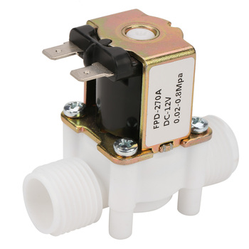 12V Solenoid Water Valve G1/2 Thread N/C Closed Type Plastic Electrical Inlet Solenoid Water Valve For Water Dispense​​ household wc toilet closestool water tank inlet solenoid valve
