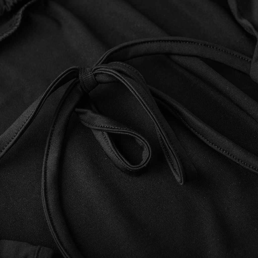 Плюс размер комбинезона женский сексуальный сплошной цвет лук облегающее Боди Комплект без рукавов Слинг ночной клуб комбинезон с открытой спиной праздничная одежда