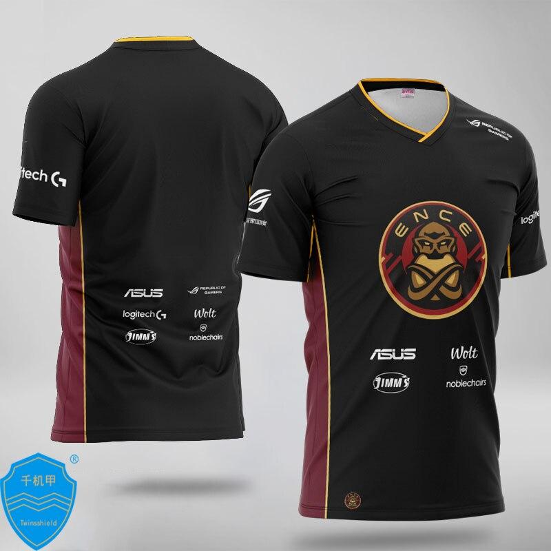 Camiseta uniforme CS GO Team ENCE camiseta personalizada ID hombres mujeres milagro camisetas de Fans