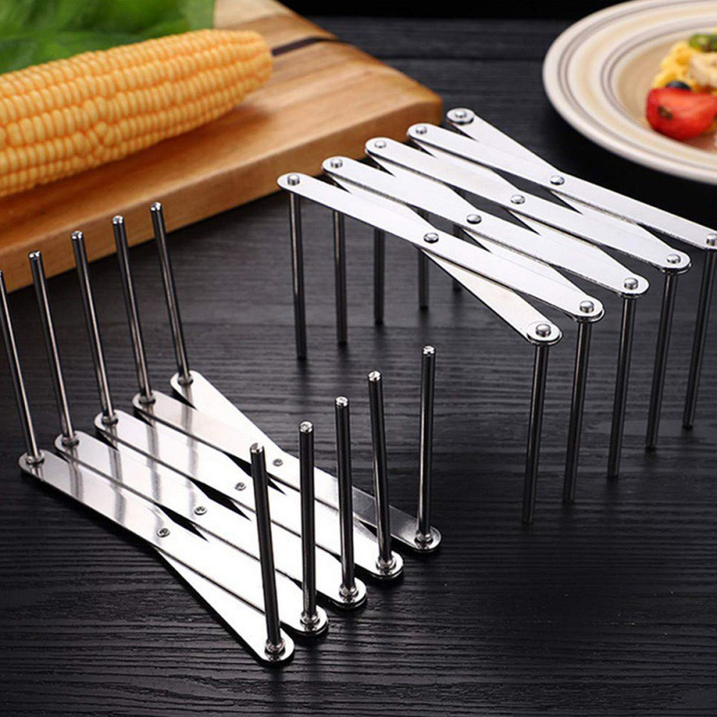 Multifunctional Steaming Rack Stainless Steel Cooking Steamer Telescopic Storage Rack Foldable Kitchen Tool