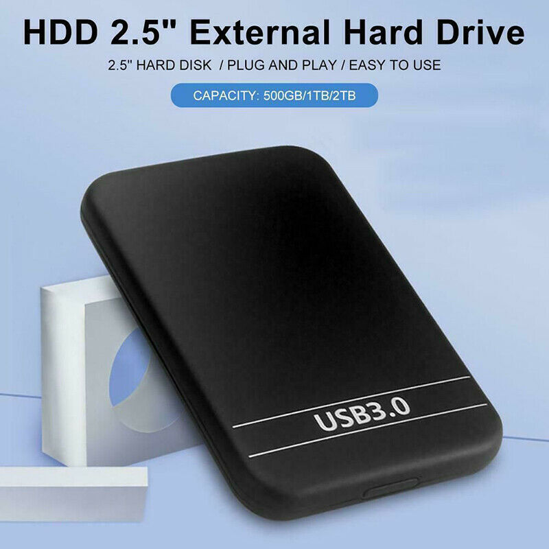 "2.5"" USB 3.0 Data Transfer Hard Drive 6TB Enclosure Slim External Case Portable Hard Drive Disk Box 5Gbps for 1TB HDD SSD"