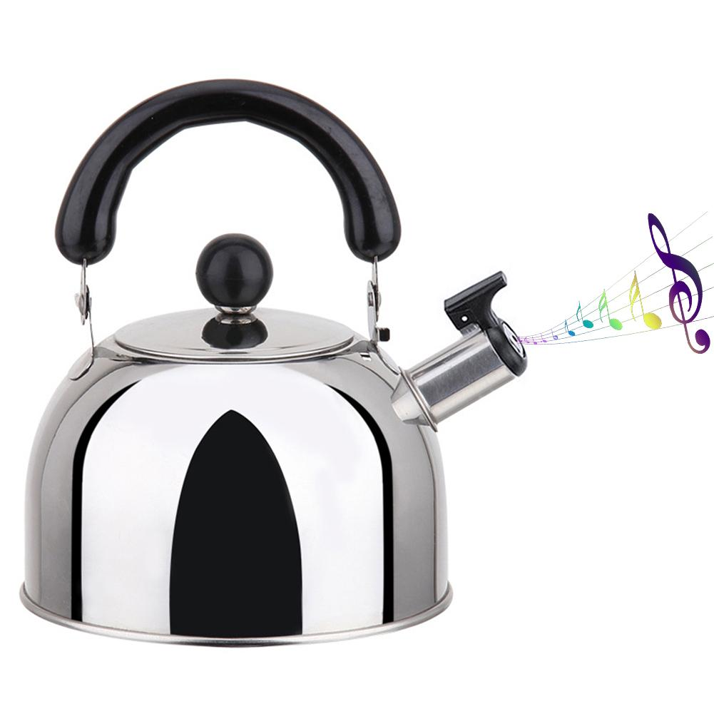 Stainless Steel Whistling Kettle 3L Stove Top Hob Kitchenware Tea Camping