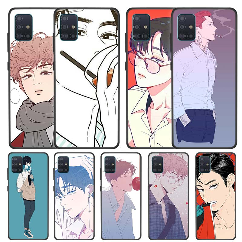 Love or Hate Boy Case for Samsung Galaxy A51 A71 S20 Plus Ultra 5G A21 A81 A91 A01 Black Silicone Bag Phone Cover