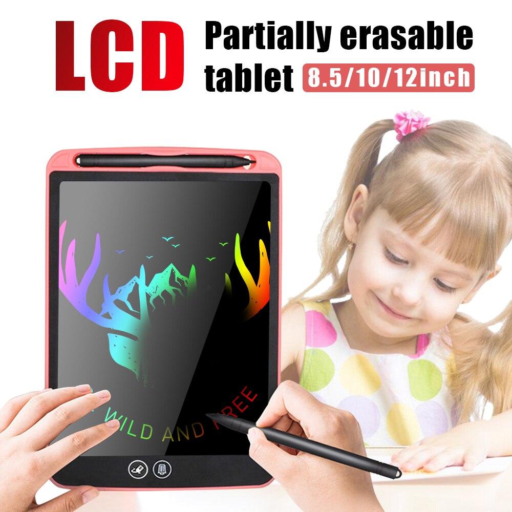 12 אינץ LCD הכתיבה באופן חלקי מחיקה ציור לוח אלקטרוני עבה עט המדגיש רפידות דיגיטלי צבעוני טבליות