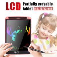 Tablette d'écriture LCD de 12 pouces effaçant partiellement la planche à dessin stylo épais électronique mettant en évidence les tablettes colorées numériques
