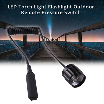 501B Light Military Tail Hunting Tactical LED Torch Black Outdoor Accessories Aluminum Alloy Flashlight Remote Pressure Switch 1