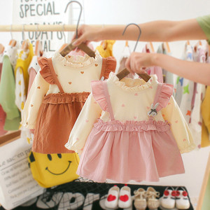 Autumn Toddler Girl Dress Cotton Baby Dress Heart Print Party Dresses For Baby Girls Long Sleeve Cute Fashion Baby Girl Clothes(China)