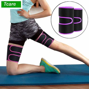 1Pcs Leg Shaper Sweat Thigh Trimmers Calories off Warmer Slender Slimming Legs Fat Thermo Compress Belt for Thigh Trimmers