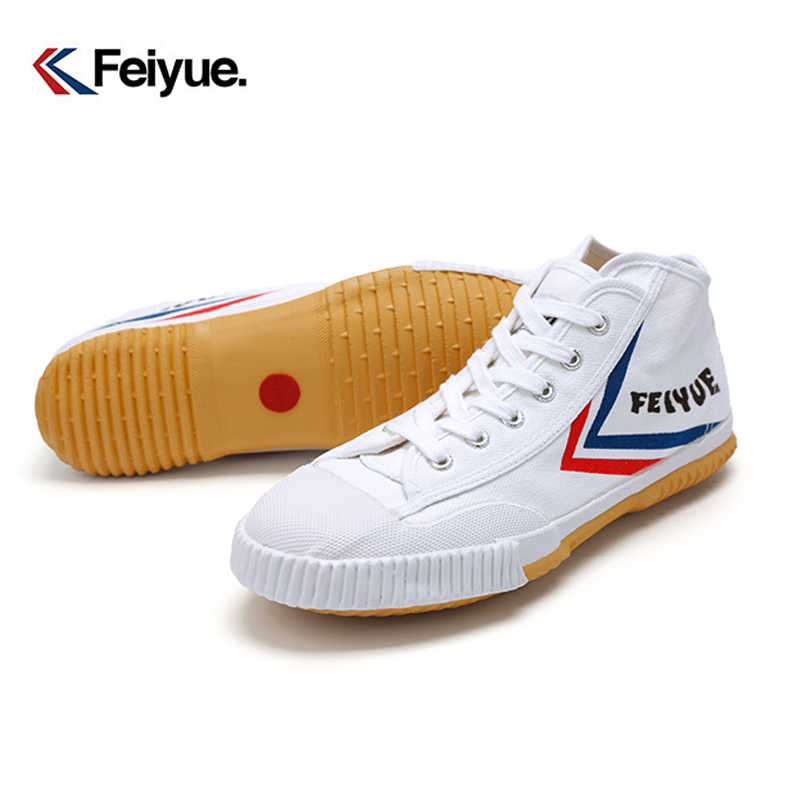 High-top Canvas Shoes Feiyue Breathable Sneaker Tai Chi Kung Fu Shoes Martial Arts Taekwondo Canvas Wushu Shoes High Flats Men
