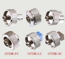 OTDR conector de transferencia FC ST SC LC, adaptador OTDR, conector de fibra óptica para reflectómetro de dominio de tiempo óptico, adaptador de fibra