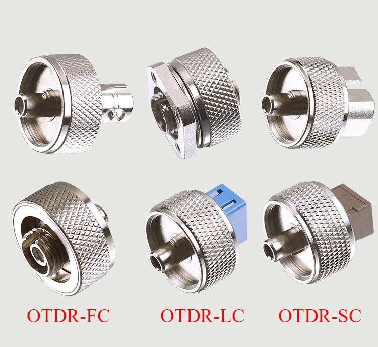 OTDR transferencia conector FC ST SC, adaptador LC OTDR de fibra óptica conector óptico de dominio de tiempo reflectómetro de fibra adaptador