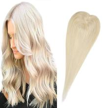 Hair-Topper Toupee Human-Hair Women 130%Density 613 BYMC Wig for Small Straight