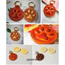 Кожаное ремесло для собак, кошек, лап, кольцо для ключей DIY, рукоделия, декоративная форма, моделирование, Пластиковая форма с высечкой, набор...