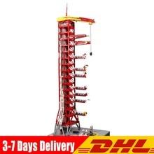 Construcción de la torre Umbilical para niños, 3561 Uds., M10003, MOC, J79002, 60003, 60004, Apollo, Saturno V, lanzamiento, piezas, juguete educativo, regalos