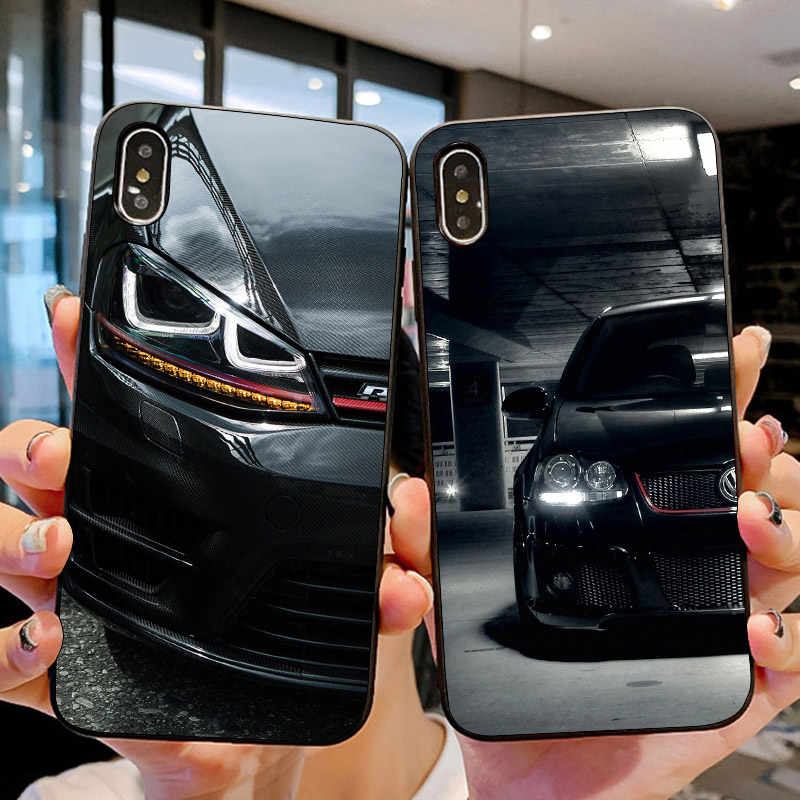 Автомобильный чехол для iPhone 11 Pro 10 X XS Max XR 6 6S 7 8 Plus 5 5S SE для VW samsung Galaxy Note 8 9 10 S8 S9 S10 Plus S10E