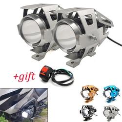Dla Yamaha TX125 przygoda YZF R120 R1 R3 R25 R6 600R motocykl led światła reflektorów lampa pomocnicza U5 reflektor motocykl światło na