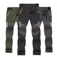 TWTOPSE Winter Men Sport Softshell Cycling Pants Fleece Water Resistant MTB Road Bicycle Pants Warm Thermal Hiking Bike Trousers