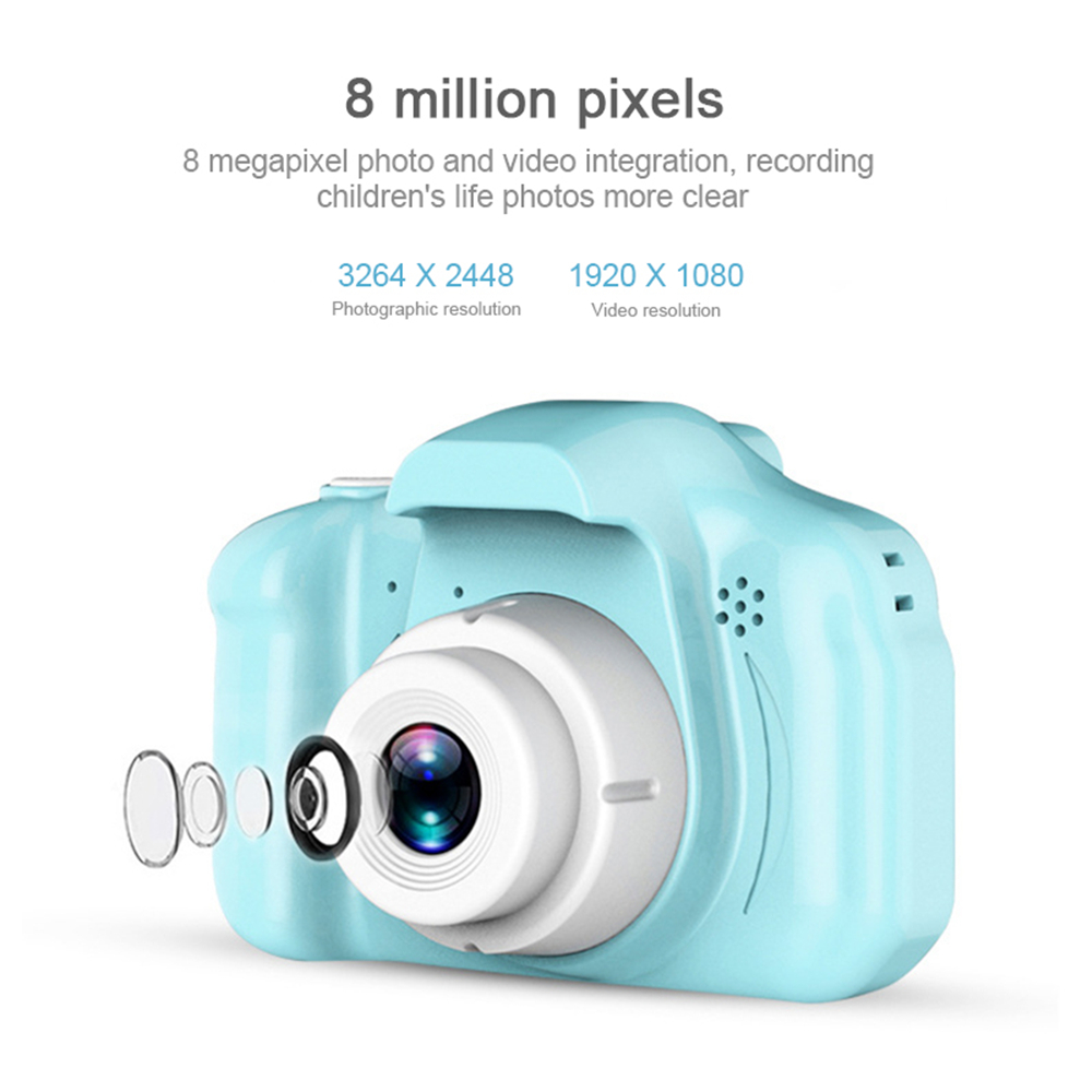 H5b04c20ca91c4c949a24fb57f9d0007f4 HD Screen Chargable Camera Outdoor Digital Mini Camera Kids Cartoon Cute Camera 2 Inch Photography Props For Child Birthday Gift