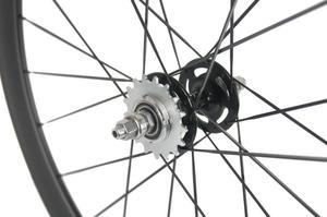Image 5 - Paire de roues en carbone 38/50 mmpneu roues de vélo de piste 700Cx23 3 K/UD moyeu Novatec mat 20/24 trous roue dentée fixe unique