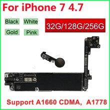 Cho iPhone 7 Bo Mạch Chủ Đen Trắng Vàng Hồng Có/Không Có Cảm Ứng ID ban Đầu Mở Khóa Cho iPhone 7 Logic Ban 32GB 128GB
