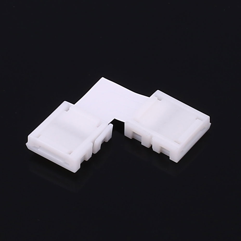 RGB Strip Light LED Connector 10MM Accessories L Shape 4Pin Solderless Fitting