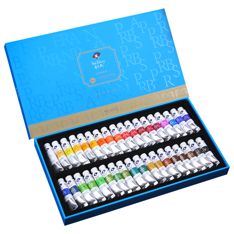 Paul Rubens 5ml Liquid Watercolor Paint Tube Set Water Color Paints Acuarelas for Painting Drawing Art Supplies Stationery