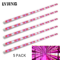 5PCS Led Grow Light 0.6m/0.9m/1.2m T8 Tube Led Phyto Lamp Strip  Bars for Indoor Potted Plants Flower Growth Seed Aquarium Tent|LED Grow Lights| |  -
