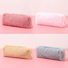 New Soft Pencil Case for Girls Kawaii Plush PencilCase Bag Cute School Supplies materials Stationery Gifts Pencilcase Box