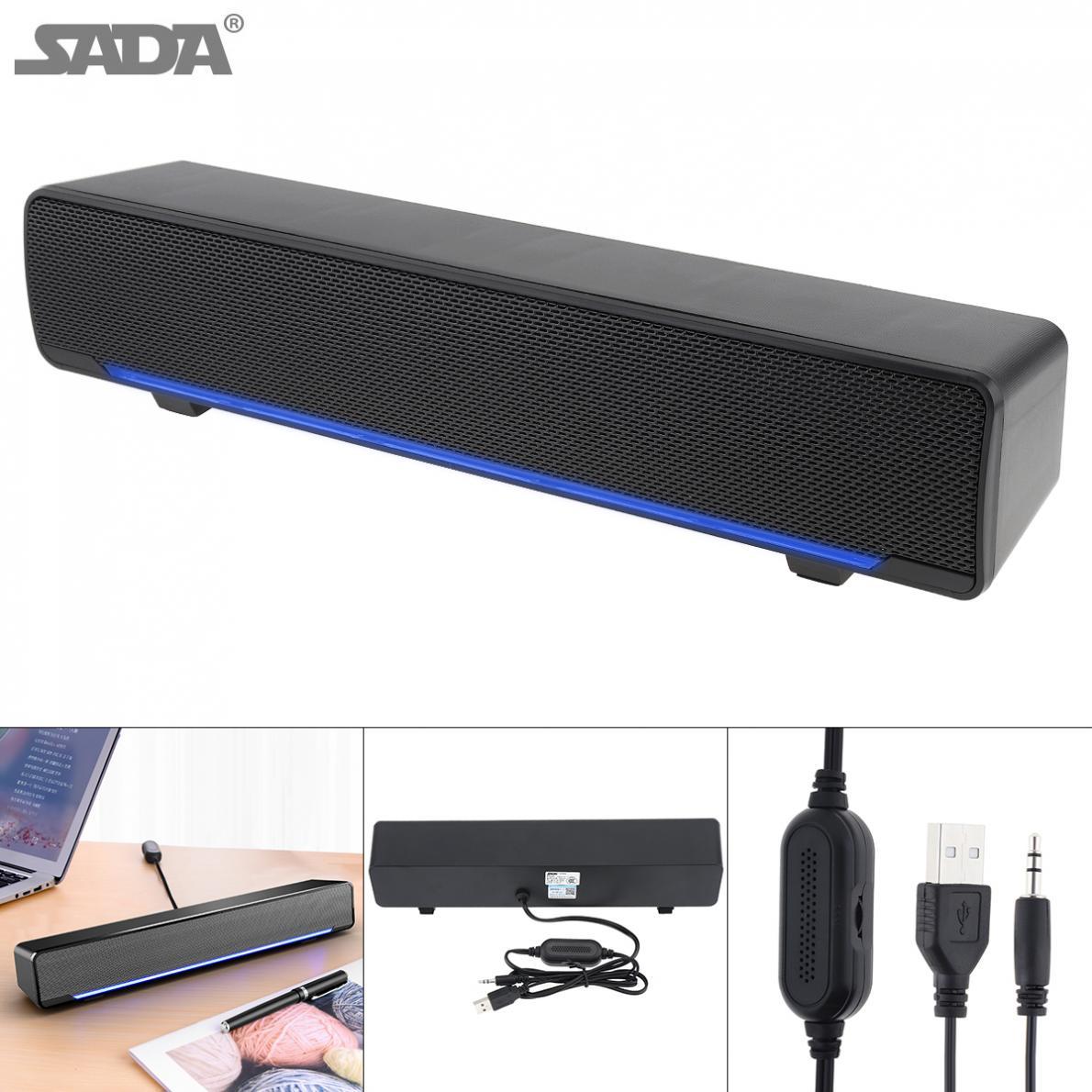 SADA V-196 полоса Bluetooth динамик беспроводной настольный мультимедийный звуковой бар с двойным динамиком DSP и смешивающим звуком для дома