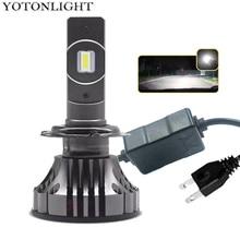 YOTONGLIGHT H7 หลอดไฟ LED ไฟหน้ารถ Lampada H4 โคมไฟ LED 120W 16000lm LED H1 H11 9005 Hb3 9006 Hb4 h8 H9 H10 H16 CSP 12 V 6000K