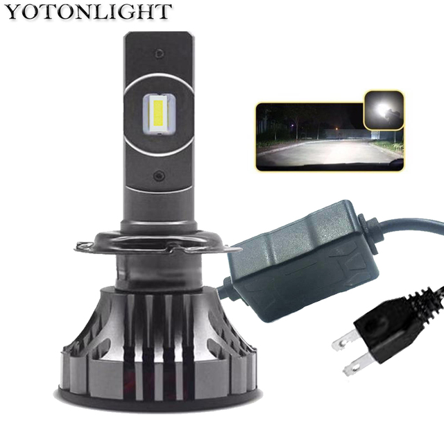 YOTONGLIGHT H7 لمبة Led سيارة العلوي Lampada H4 Led مصباح 120W 16000lm الصمام H1 H11 9005 Hb3 9006 Hb4 H8 H9 H10 H16 CSP 12v 6000K