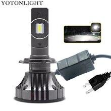 Yotonlight ampoule pour phare de voiture, Led H7, ampoule H4 lampe à Led 120W 16000lm, Led H1 H11 9005 Hb3 9006 Hb4 H8 H9 H10 H16 CSP 12v 6000K
