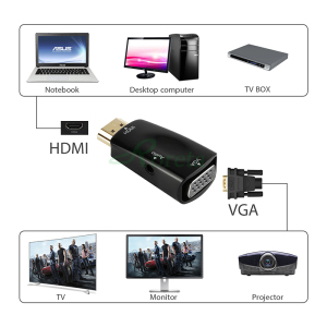 Image 4 - Roreta HDMI to VGA Adapter Audio Cable Converter Male to Female HD 1080P For PC Laptop TV Box Display Projector