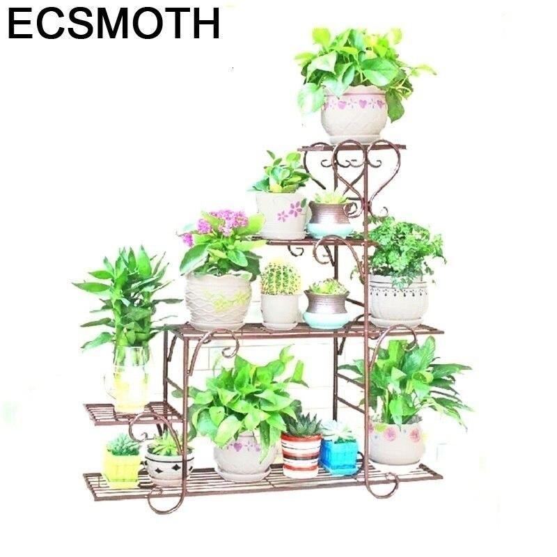 Exterieur Afscherming Shelf Support Plante Planten Rek Decorer Metal Raflar Balkon Plant Stand Balcony Balcon Flower Iron Rack