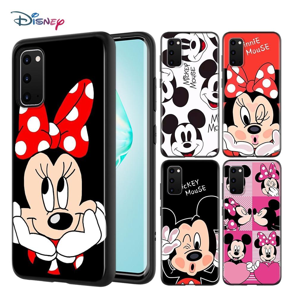 Мягкий чехол для телефона с изображением Микки и Минни для Samsung Galaxy A01 A11 A12 A21 A21S A31 A41 A42 A51 A71 A32 A52 A72 A02S