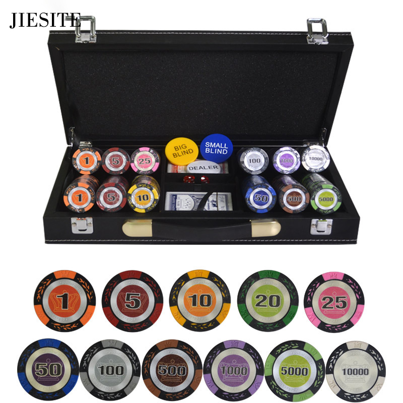 PU Leather Poker Chips Dices Cards Tokens Case for 200 500 Chip Set 300