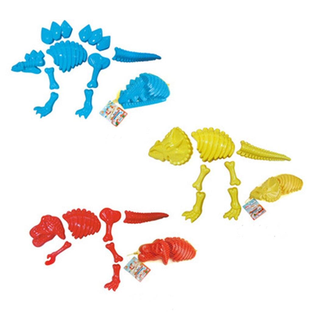 Drop Ship Funny Dinosaur Skeleton Bone Sand Mold Beach Toys For Baby Children Kids Summer