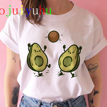 Avocado Harajuku Kawaii Cartoon T-shirt Vrouwen Ullzang Kleine Verse T-shirt 90S Grafische Mode Tshirt Koreaanse Stijl Top Tee vrouwelijke(China)