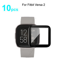 10pcs For Fitbit Versa 2 Soft Smart Watch Screen Protector Guard 3D Curved Edge Full Coverage Protective Film Cover